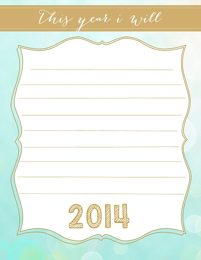 Open-Ended Resolutions Printable