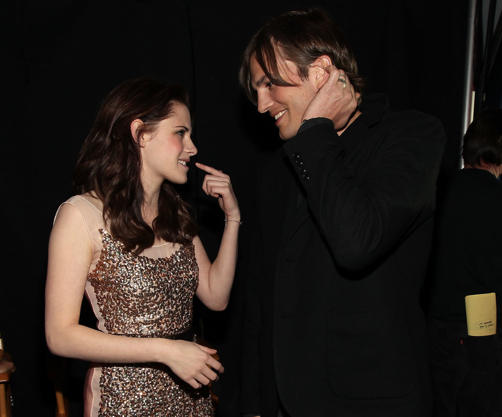 That time in 2011 when Ashton Kutcher and Kristen Stewart chatted backstage.