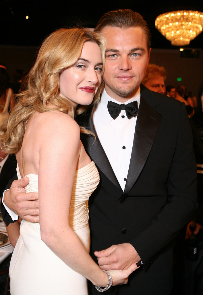 Kate Winslet and Leonardo DiCaprio posed at the awards in 2007.