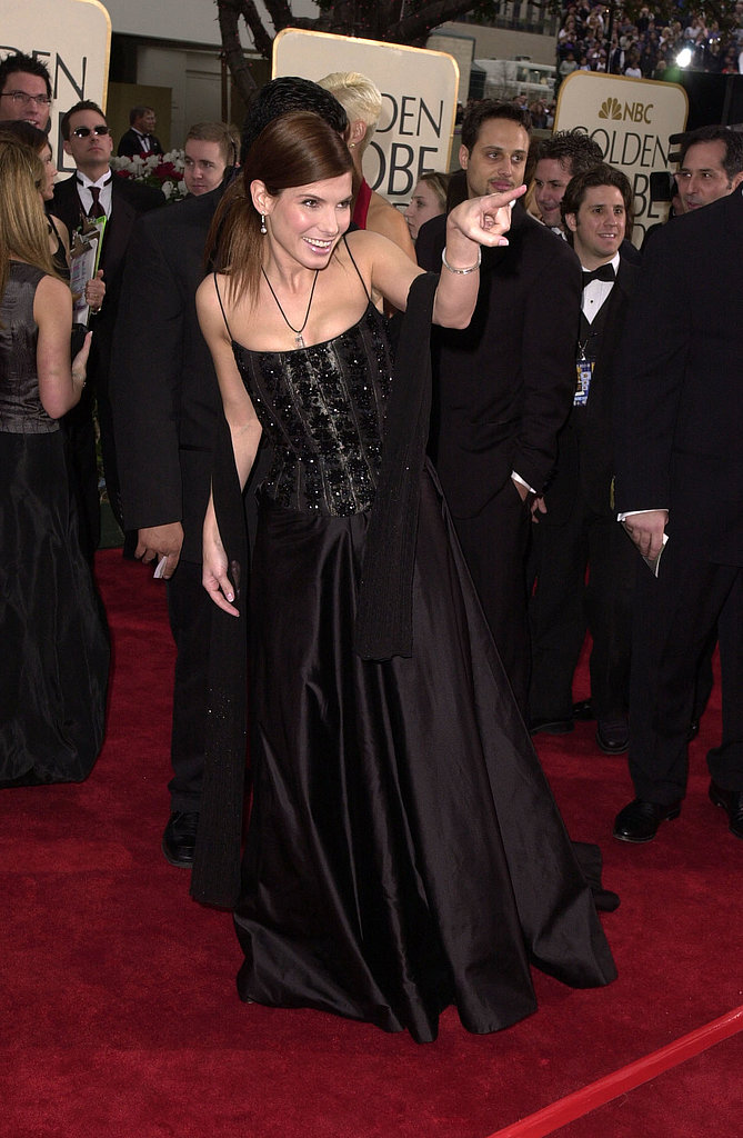 Sandra Bullock got playful on the red carpet in 2001.