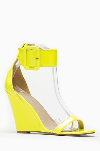 Liliana Yellow Single Sole Ankle Strap Wedge @ Cicihot Wedges Shoes Store:Wedge Shoes,Wedge Boots,Wedge Heels,Wedge Sandals,Dres