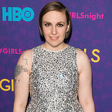 We've seen Lena Dunham work her short hairstyle on multiple red carpets, but this slicked, deep side part was a fun take on her crop. A brush of metallic black shadow and some mascara added some drama to her makeup palette.