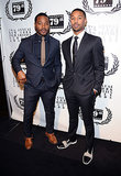 Fruitvale Station director Ryan Coogler and star Michael B. Jordan posed together.