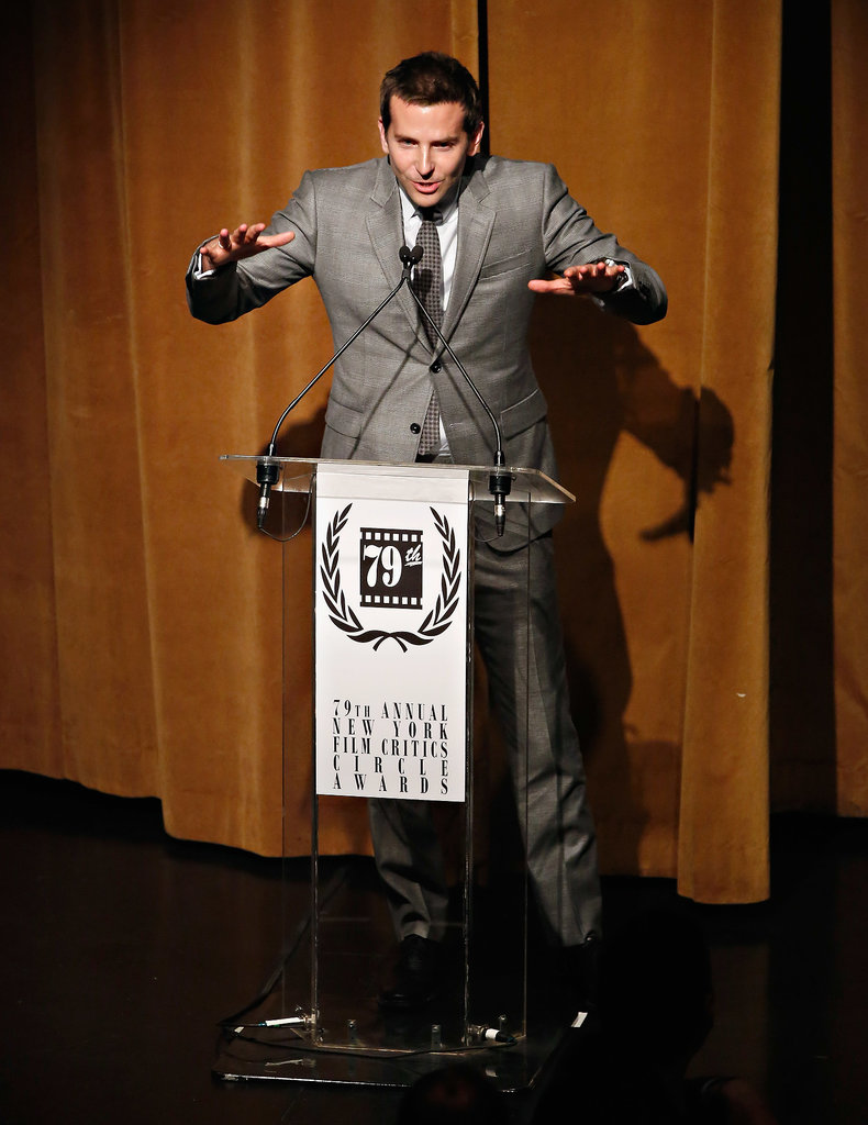 Bradley accepted Jennifer Lawrence's award for her.