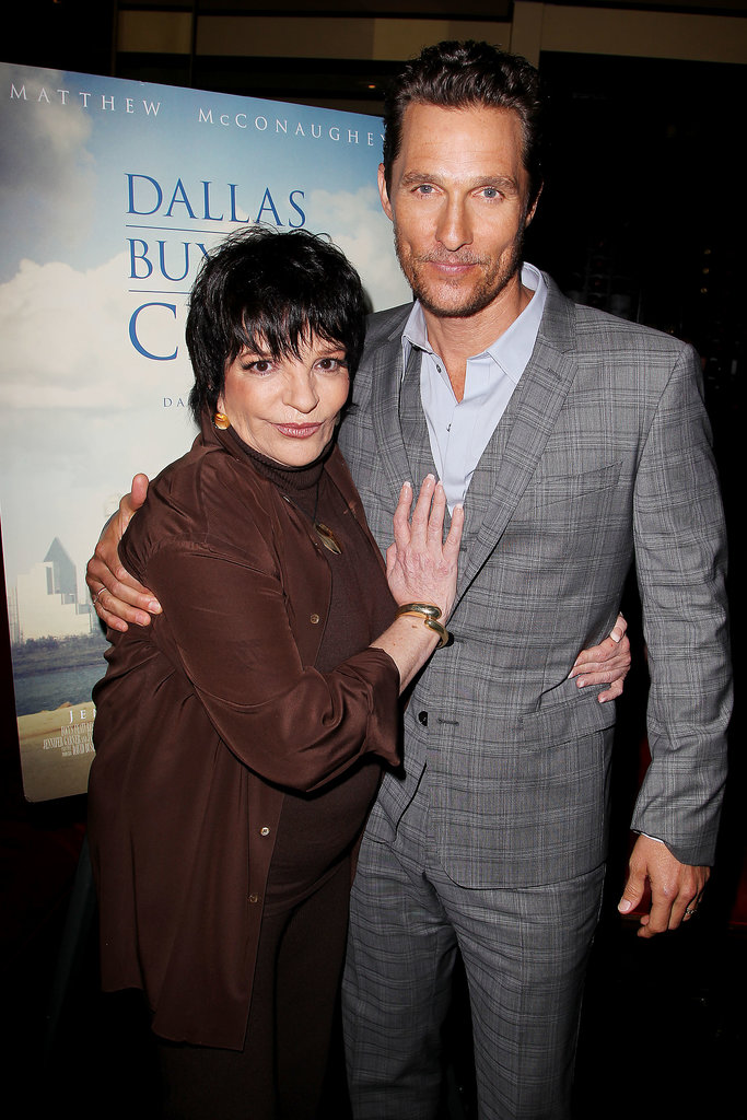 Liza Minnelli couldn't keep her hands off Matthew McConaughey when she attended a lunch for Dallas Buyers Club in NYC on Monday.