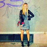 Bar Refaeli looked suprerstylish (as usual) on a night out with friends. Source: Instagram user barrefaeli