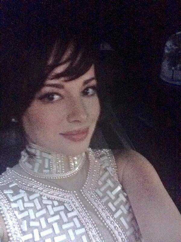 Awkward's Ashley Rickards took a sparkly snap in her car. Source: Twitter user AshleyRickards