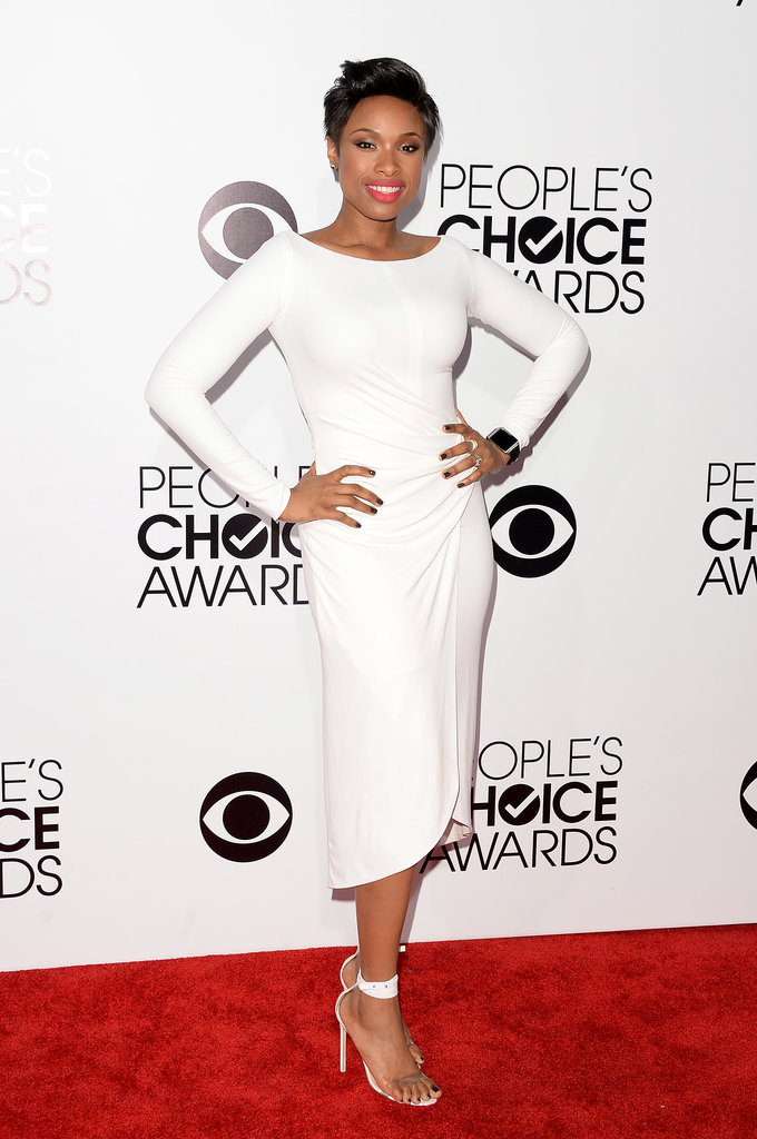 Jennifer Hudson dropped jaws on the red carpet in her sleek white dress.