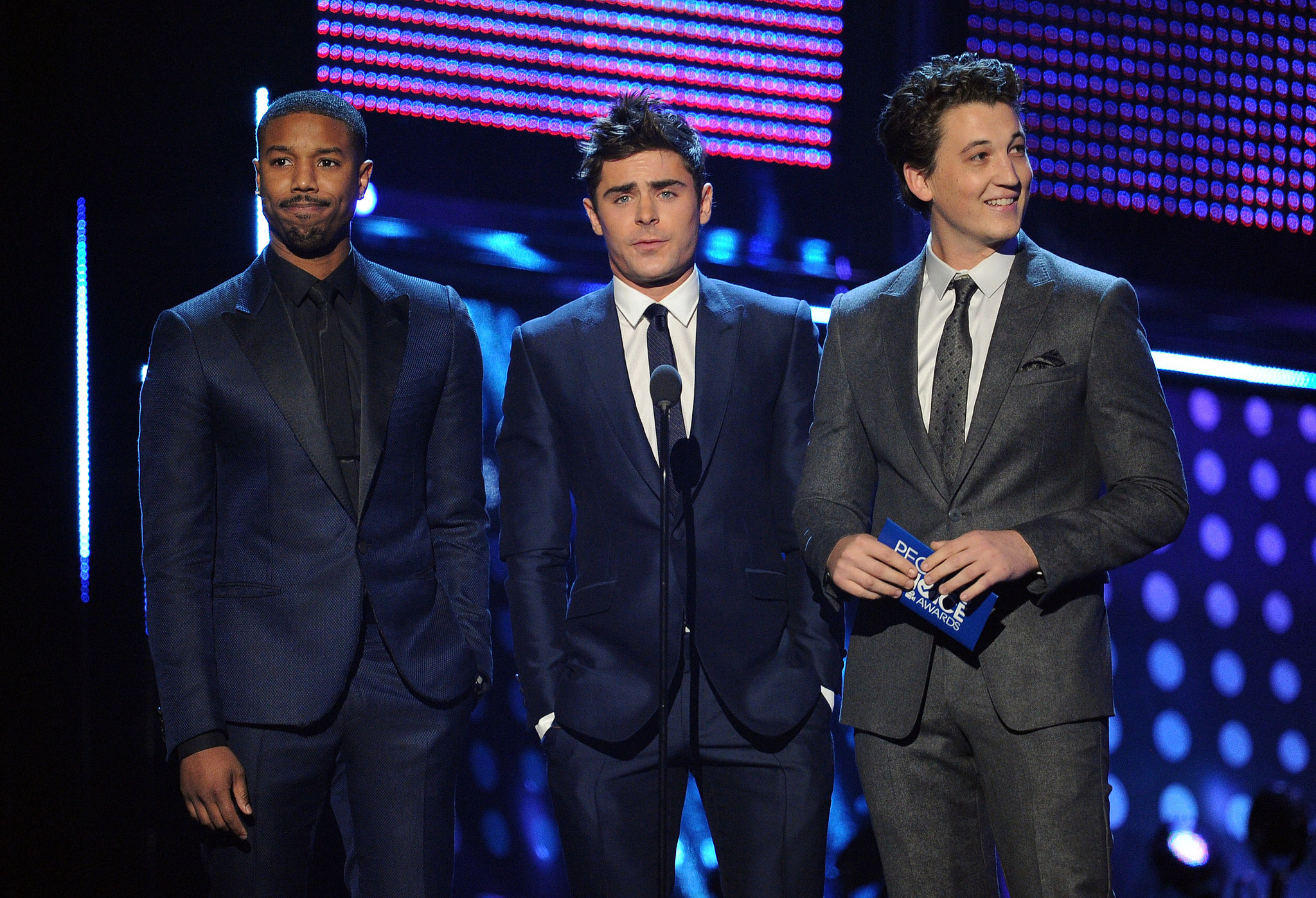 Michael B. Jordan, Zac Efron, and Miles Teller suited up to present at the award show.