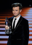 Chris Colfer charmed the audience when he gave his acceptance speech.