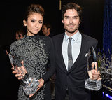 Nina and Ian posed with their awards.