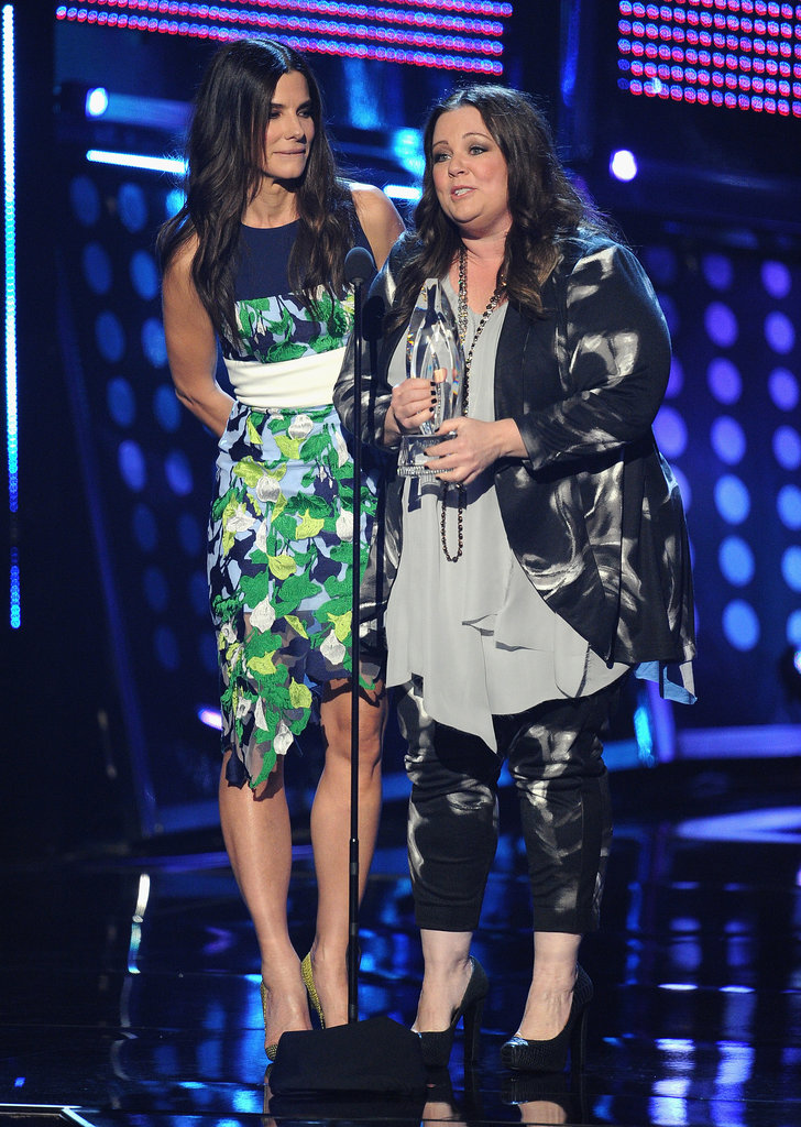 Sandra took the stage with Melissa McCarthy when they won the award for favorite movie duo.