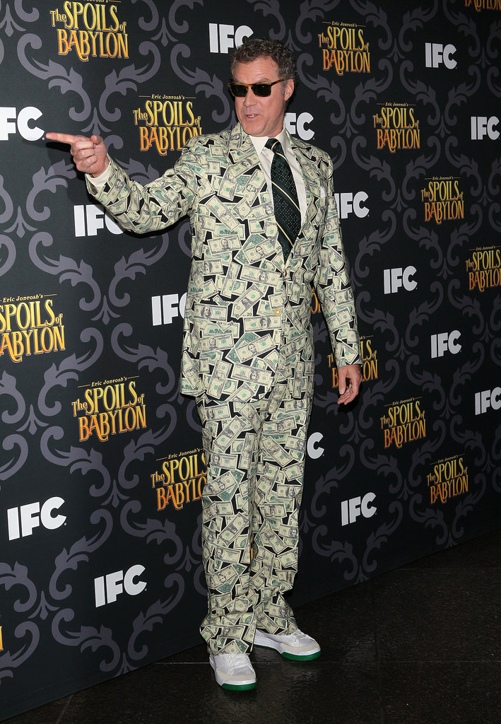 Will Ferrell looked like a million bucks when he attended the premiere of The Spoils of Babylon in LA on Tuesday.