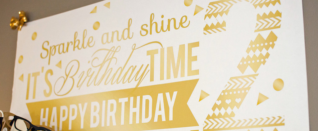 Sparkle and Shine! A Golden Second Birthday Party