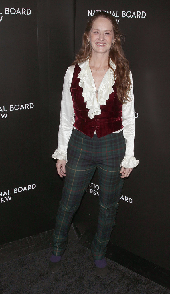 Prisoners star Melissa Leo had fun in a plaid ensemble.