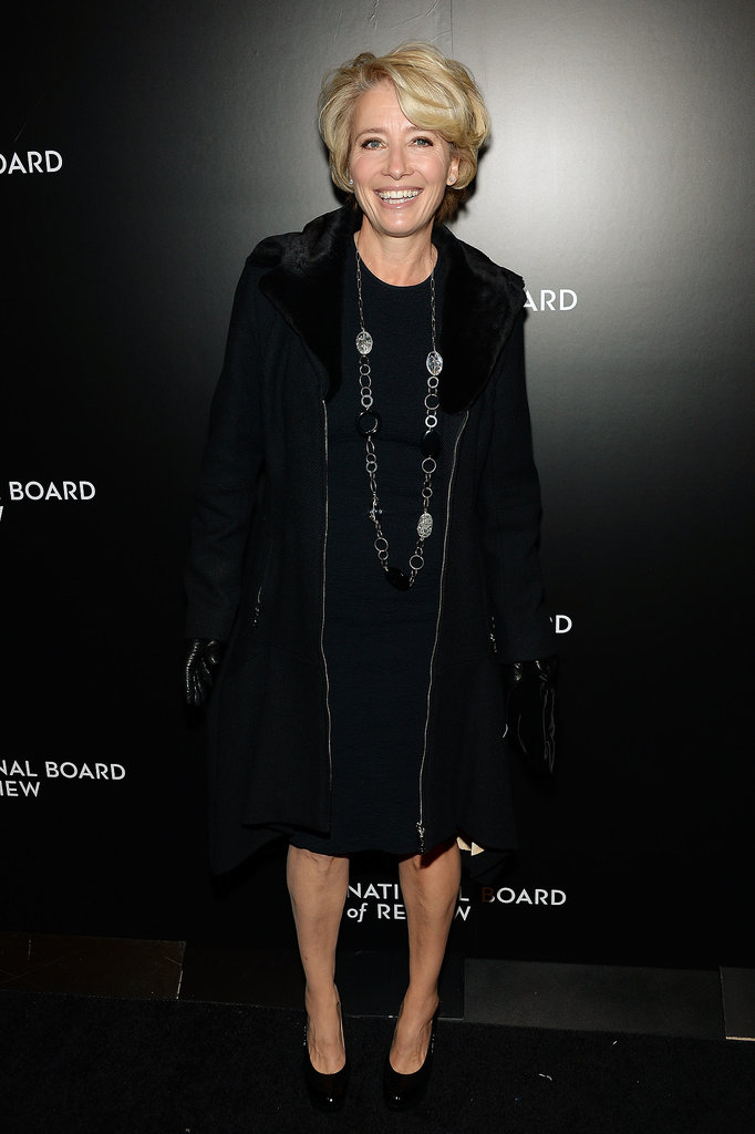 Emma Thompson wore head-to-toe black.