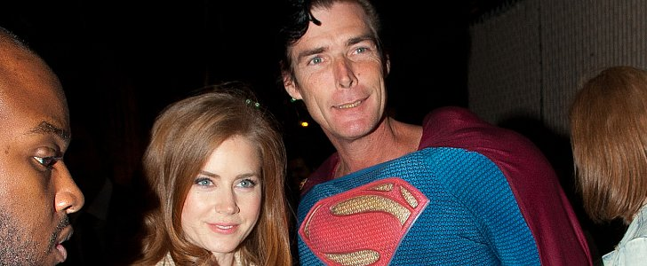 Amy Adams Gets Together With Superman — but Ben's Not There