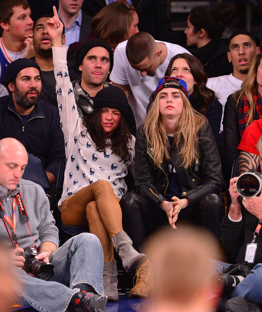 The 8 Stages of Michelle Rodriguez's Weird Night With Cara