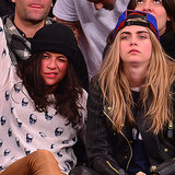 Michelle Rodriguez and Cara Delevingne at Knicks Game