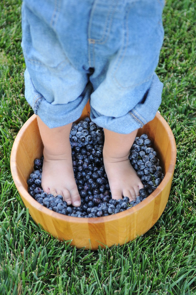 Stomp on Grapes to Make Wine