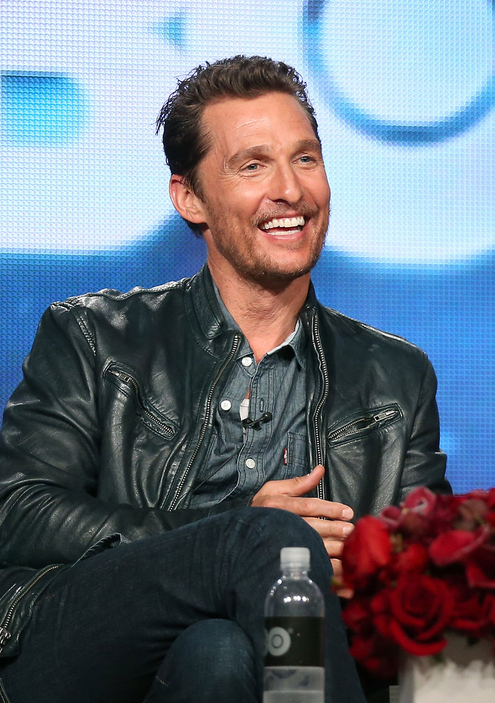 Matthew McConaughey beamed during his panel.