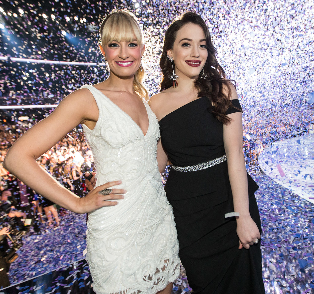 Hosts Beth Behrs and Kat Dennings finished the night with a bang,