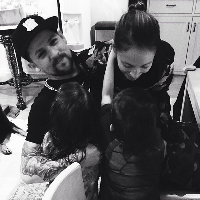 Joel Madden savored a family moment with Harlow, Sparrow, and Nicole Richie. Source: Instagram user joelmadden
