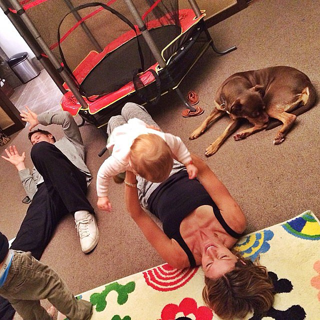 When the New England Patriots had a wild-card-weekend bye, Gisele Bündchen and Tom Brady enjoyed some playtime with Ben and Vivian. Source: Instagram user giseleofficial