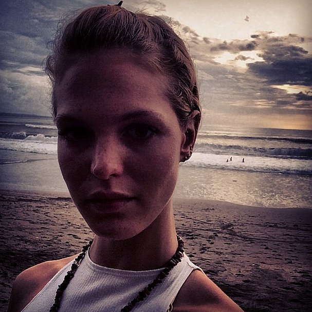 Erin Heatherton soaked up the last rays at sunset. Source: Instagram user erinheathertonlegit
