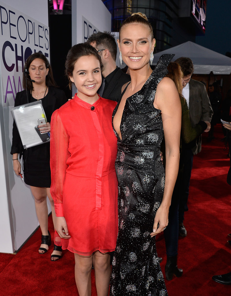 Heidi towered over pint-size <b>Trophy Wife</b> star Bailee Madison.