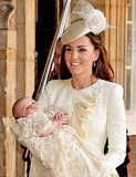 Kate's hair at Prince George's christening was flawless, not that we expected anything else.