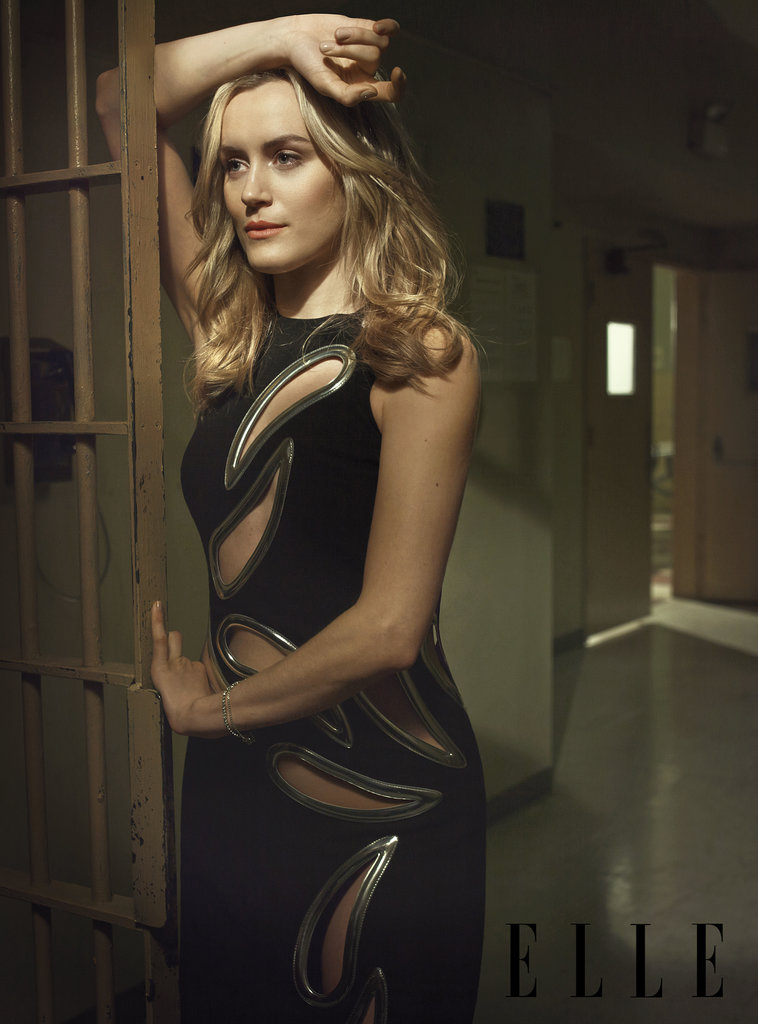 Taylor Schilling rocked a dress Piper might envy. Source: Elle