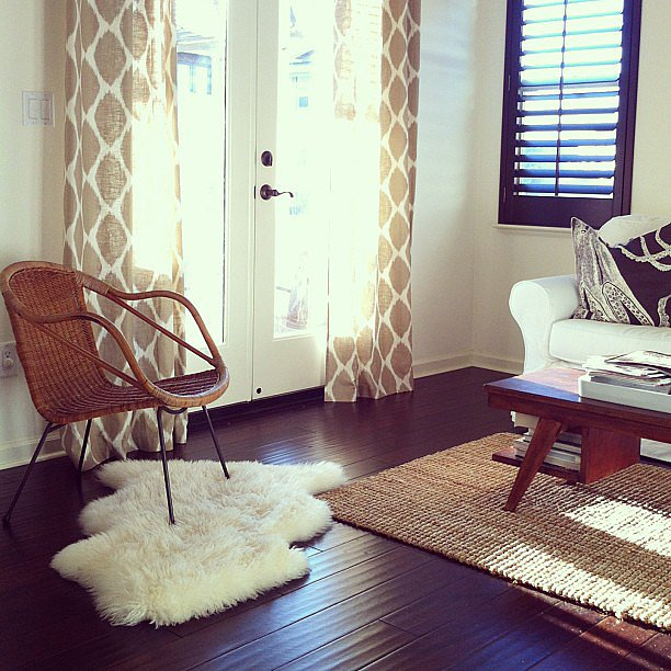 The Living Room No Sugar: How To Style Two Rugs Together