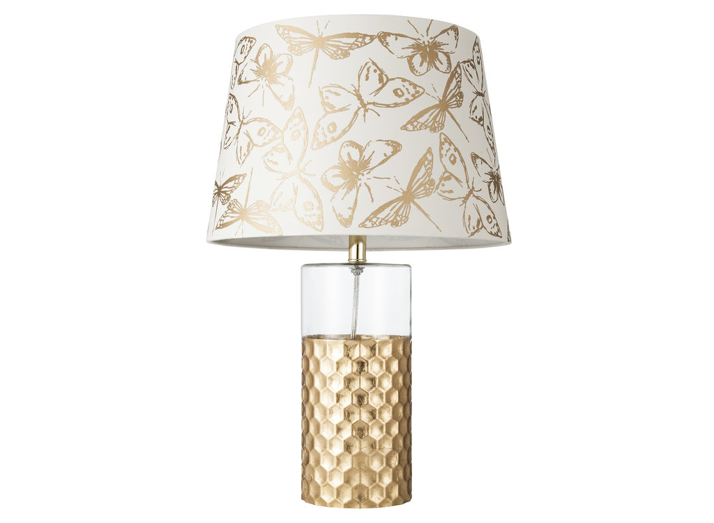This butterfly lamp shade ($25) and honeycomb lamp base ($55) are a match made in lighting heaven.