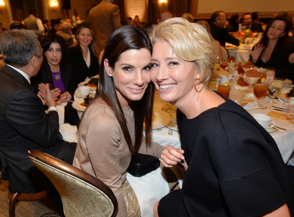 On Friday, Sandra Bullock and Emma Thompson had a good time at the AFI lunch.
