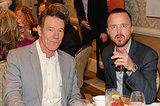 Bryan Cranston and Aaron Paul shared a silly moment.