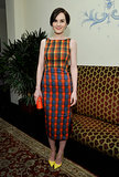 """Michelle Dockery wore a colorful dress to W magazine's """"Best Performances"""" party on Thursday."""