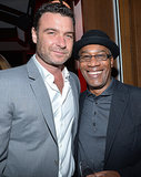 Liev Schreiber and Scandal's Joe Morton posed together.