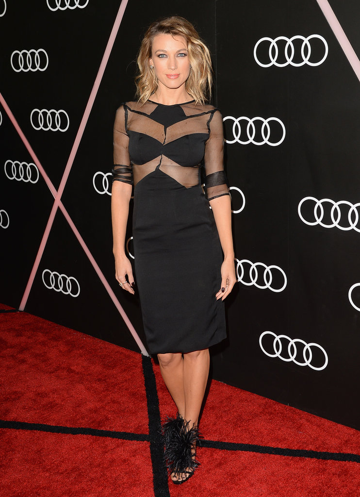 Justified's Natalie Zea went for a different variation of sheer.