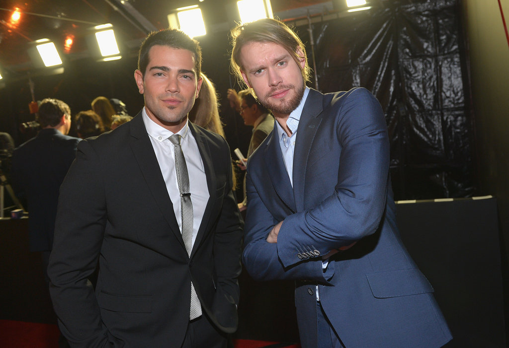Glee's Chord Overstreet and Dallas star Jesse Metcalfe had a handsome-off.