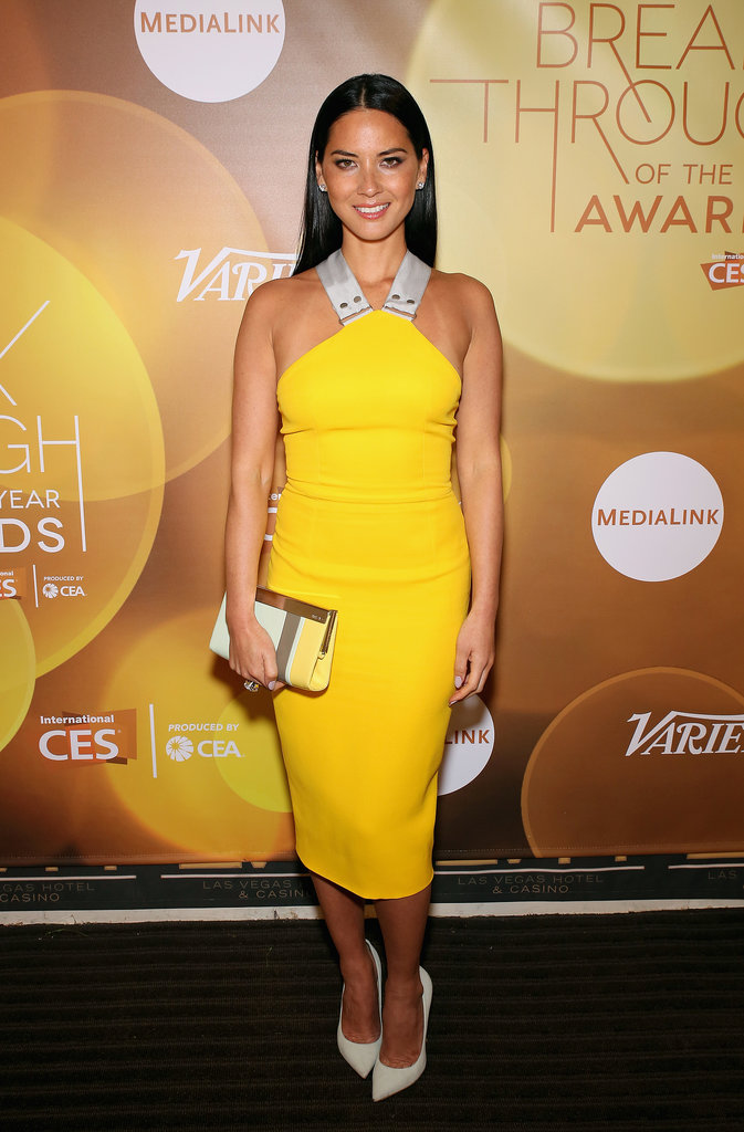 Olivia Munn attended Variety's Breakthrough of the Year Awards on Thursday.