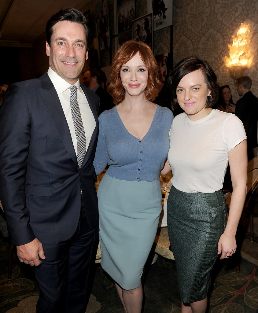 Mad Men's Jon Hamm, Christina Hendricks, and Elisabeth Moss met up for a snap.