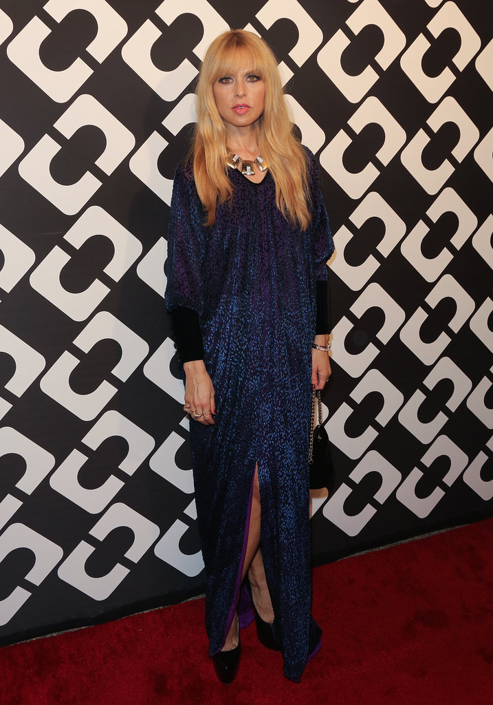 Vintage-loving Rachel Zoe was right at home pulling from the archives, ending up with this sparkling midnight-blue style.