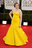 Lena Dunham Is Anything but Mellow at the Golden Globes