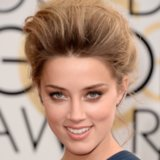 Amber Heard Hair and Makeup at Golden Globes 2014