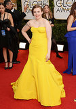 Lena Dunham at the Golden Globes 2014