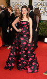 Tina Fey at the Golden Globes 2014