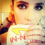 Emma Roberts grabbed a burger before the show. Source: Instagram user emmaroberts6