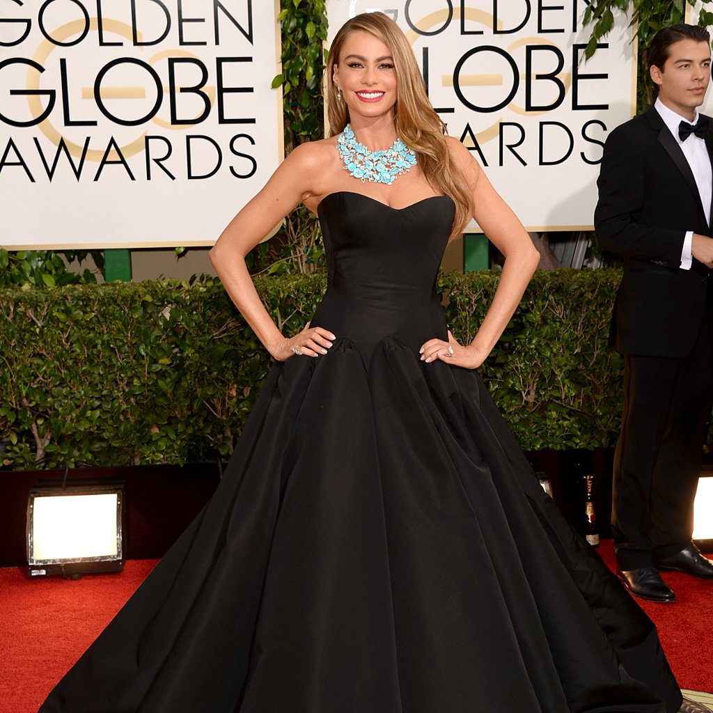 Sofia Vergara Dress on Golden Globes 2014 Red Carpet