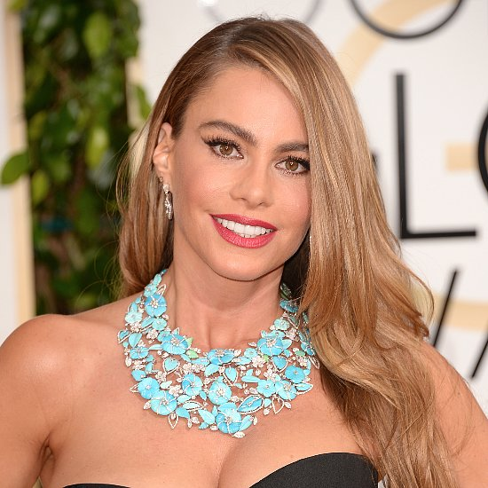 Sofia Vergara Hair and Makeup at Golden Globe Awards 2014